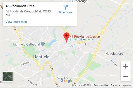Alpha Lichfield Taxi - Map